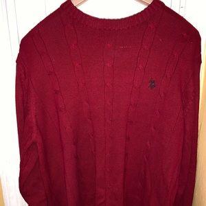 U.S. Polo Assn. Men's Red Sweater